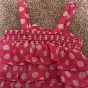 healthtex Matching Sets - Bubblegum pink polka dot outfit